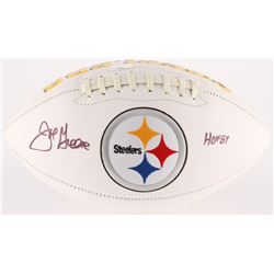 "Joe Greene Signed Steelers Logo Football Inscribed ""HOF 87"" (Radtke COA)"