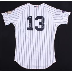 "Alex Rodriguez Signed LE Yankees 2008 MLB All-Star Game Jersey Inscribed ""Goodbye Yankee Stadium"" (B"