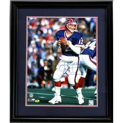 Jim Kelly Signed Bills 23x27 Custom Framed Photo Display (MAB COA)