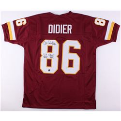 """Clint Didier Signed Redskins Jersey Inscribed """"S.B. Champs XVII XXII"""" (Jersey Source COA)"""