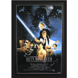 "Anthony Daniels Signed ""Star Wars: Return of the Jedi"" 29x42 Custom Framed Poster Display Inscribed"