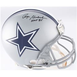 "Roger Staubach Signed Cowboys Full-Size Authentic On-Field Helmet Inscribed ""HOF '85"" (JSA COA)"
