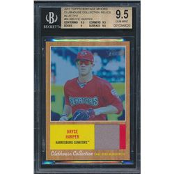 2011 Topps Heritage Minors Clubhouse Collection Relics Blue Tint #BH Bryce (BGS 9.5)