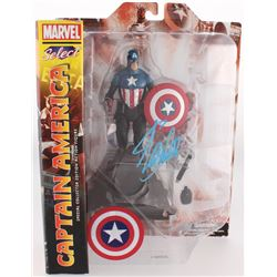 "Stan Lee Signed ""Captain America"" Marvel Select Action Figure (Radtke COA  Lee Hologram)"