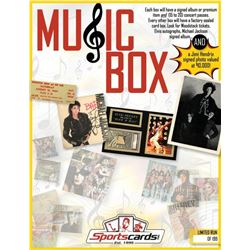 """MUSIC BOX"" - Sportscards.com Music Memorabilia Box - Signed Albums  Photos, Tickets  More!"