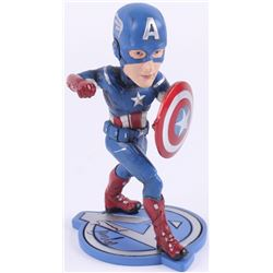 "Stan Lee Signed ""Captain America"" 7"" Bobblehead (Radtke Hologram  Lee Hologram)"