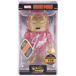 "Stan Lee Signed ""Iron Man"" Marvel Hikari Vinyl Action Figure (Radtke Hologram  Lee Hologram)"