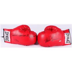 """Mike Tyson Signed Pair of (2) Everlast Boxing Gloves Inscribed """"Baddest Man on the Planet""""  """"44 KOs"""""""