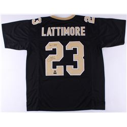 "Marshon Lattimore Signed Saints Jersey Inscribed ""2017 DROY"" (Radtke COA)"