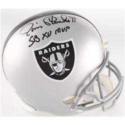 "Jim Plunkett Signed Raiders Full-Size Helmet Inscribed ""S.B. XV MVP"" (Radtke COA)"