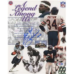 "Walter Payton Signed Bears 8x10 Photos Inscribed ""Sweetness""  ""16, 726"" (PSA LOA)"