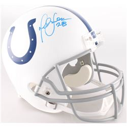 Marshall Faulk Signed Colts Full-Size Helmet (Radtke COA)
