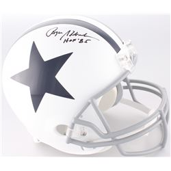 "Roger Staubach Signed Cowboys Throwback Full-Size Helmet Inscribed ""HOF '85"" (JSA COA)"