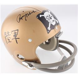 Roger Staubach Signed Navy Midshipmen Throwback Suspension Full-Size Helmet (JSA COA)