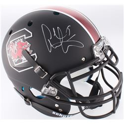 Alshon Jeffery Signed South Carolina Gamecocks Custom Matte Black Full-Size Authentic On-Field Helme