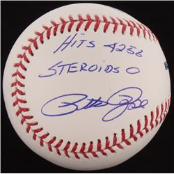 "Pete Rose Signed OML Baseball Inscribed ""Hit 4256 Steroids 0"" (Radtke Hologram)"