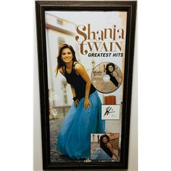 Shania Twain Signed 14x26 Custom Framed Signature Cut Display with Poster  CD (JSA COA)