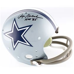 "Roger Staubach Signed Cowboys TK Suspension Full-Size Helmet Inscribed ""HOF '85"" (JSA COA)"