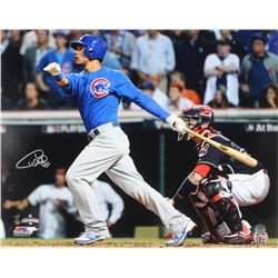 Willson Contreras Signed Cubs 16x20 Photo (Schwartz COA)