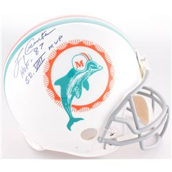 """Larry Csonka Signed Dolphins Full-Size Authentic On-Field Throwback Helmet Inscribed """"HOF 87""""  """"S.B."""