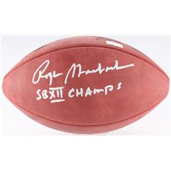 """Roger Staubach Signed Official Super Bowl XII Logo Football Inscribed """"SB XII Champs"""" (Radtke COA)"""