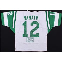 1969 New York Jets LE Jersey Signed By (27) With Joe Namath, Bake Turner, Bill Baird (Steiner COA)