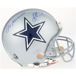 Roger Staubach  Troy Aikman Signed Cowboys Authentic On-Field Full Size Helmet (TriStar Hologram  St