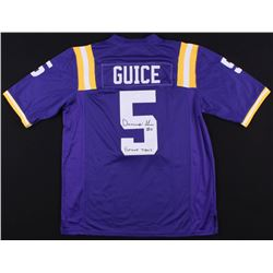"""Derrius Guice Signed LSU Tigers Jersey Inscribed """"Geaux Tigers"""" (JSA COA)"""