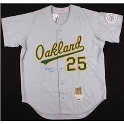 """Mark McGwire Signed 1987 All-Star Athletics Majestic Jersey Inscribed """"ROY 87"""" (Steiner COA  MLB Hol"""