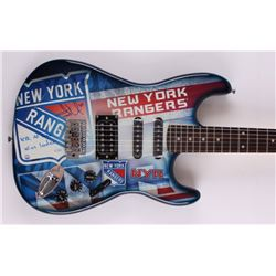"""Henrik Lundqvist Signed Rangers Limited Edition Electric Guitar Inscribed """"NYR All-Time Wins Leader"""""""