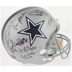 Dallas Cowboys Greats Team-Signed Full-Size Helmet with (23) Signatures Including Roger Staubach, Tr