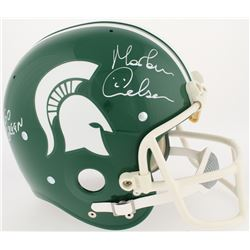 "Morten Andersen Signed Michigan State Spartans Full-Size RK Suspension Helmet Inscribed ""Go Green"" ("