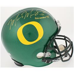 "Marcus Mariota Signed Oregon Ducks Full-Size Helmet Inscribed ""Heisman 14"" (Mariota Hologram  Radtke"