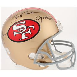 Joe Montana, Jerry Rice  Steve Young Signed 49er Full-Size Helmet (Radtke COA, Rice  Montana Hologra