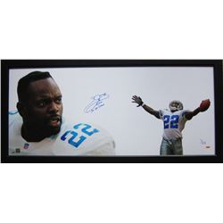 "Emmitt Smith Signed Cowboys ""The Show"" 23x50 Custom Framed Limited Edition Photo Inscribed ""3x SB Ch"