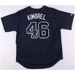 "Craig Kimbrel Signed LE Braves Jersey Inscribed ""Rookie Saves Record 8-31-2011""  ""155 Saves 06-06-20"