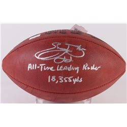 "Emmitt Smith Signed Official NFL Game Ball Inscribed ""All-Time Leading Rusher""  ""18,355 Yds"" (Radtke"