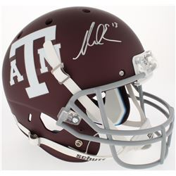 Mike Evans Signed Texas AM Aggies Full-Size Custom Matte Maroon Helmet (JSA COA)