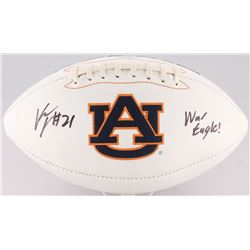 "Kerryon Johnson Signed Auburn Tigers Logo Football Inscribed ""War Eagle!"" (Radtke COA)"