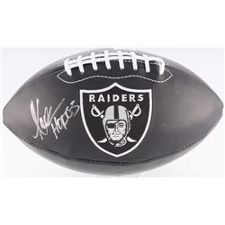 "Marcus Allen Signed Raiders Logo Black Leather Football Inscribed ""HOF 03"" (Radtke COA)"