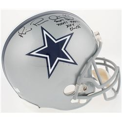 "Michael ""Playmaker"" Irvin Signed Cowboys Full-Size Helmet Inscribed "" Super Bowl XXVII, XXVIII, XXX"
