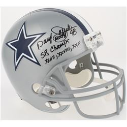 "Daryl ""Moose"" Johnston Signed Cowboys Full-Size Helmet Inscribed ""SB Champs XXVII, XXVIII, XXX"" (Rad"