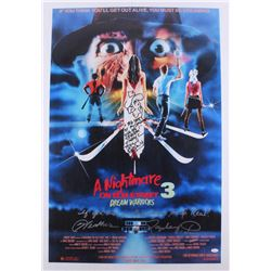 "Robert Englund  Heather Langenkamp Signed ""A Nightmare on Elm Street 3: Dream Warriors"" 24x36 Poster"