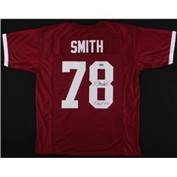 "Bruce Smith Signed Virginia Tech Hokies Jersey Inscribed ""CHOF '06"" (Radtke COA)"