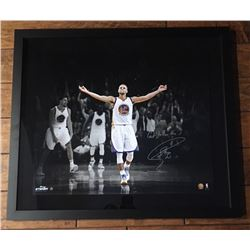"""Stephen Curry Signed Warriors 20x24 Custom Framed Limited Edition Photo Inscribed """"Gotta Love The 3'"""