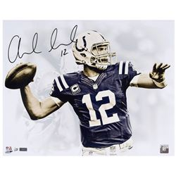 """Andrew Luck Signed Colts """"White Out"""" 16x20 Limited Edition Photo (Panini COA)"""