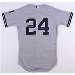 """Gary Sanchez Signed Limited Edition Yankees Jersey Inscribed """"1st ML HR 8/10/16"""" (Steiner COA)"""