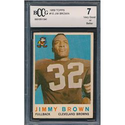 1959 Topps #10 Jim Brown (BCCG 7)