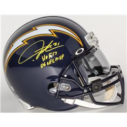 "LaDainian Tomlinson Signed Chargers Full-Size Throwback Helmet Inscribed ""HOF 17""  ""06 NFL MVP"" (Rad"