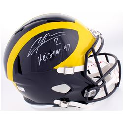 "Charles Woodson Signed Michigan Wolverines Full-Size Speed Helmet Inscribed ""Heisman 97"" (Radtke COA"